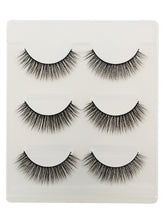 Load image into Gallery viewer, 3Pcs Handmade Natural Effect Volumizing Makeup Fake Eye Lashes