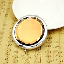 Load image into Gallery viewer, 2016 Metal Pocket Mirror Makeup Fold Round Crystal Compact Mirror Women Girls Portable Double Sides Mirrors Promotional Gifts FH