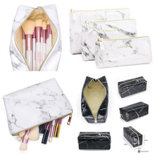 Load image into Gallery viewer, Womens Cosmetic Bags Marble Multi-Function Purse Travel Makeup Pouch Toiletry Storage Bag
