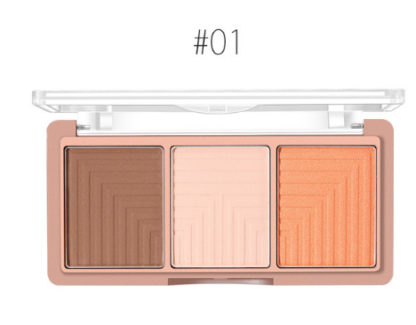O.TWO.O 4Colors makeup Palette Face Contour Powder Highlighter Easy to Wear Brighten Blusher Bronzer Makeup Base Foundation Powder