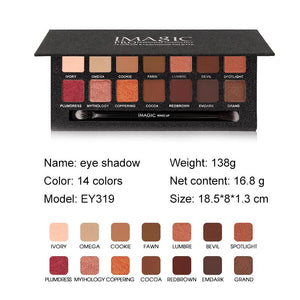 IMAGIC  14 Color Matte Nude EyeShadow