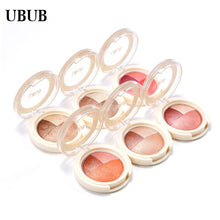 Load image into Gallery viewer, UBUB 3 Colors Eyeshadow Baked Roast Glitter Metallic Nude Smoky Primer Eye Shadow Waterproof Natural Easy to Wear Makeup