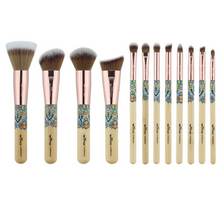 Load image into Gallery viewer, Makeup Brushes 12PCS Set Bamboo Make Up Brush Soft Synthetic Collection Kit with Powder Contour