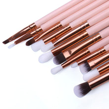 Load image into Gallery viewer, O.TWO.O 12pcs Eye Brushes Set Make up Tool Kit For Eyes Eye Liner Shader natural-synthetic hair
