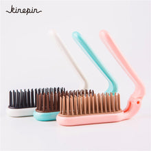 Load image into Gallery viewer, 3 Colors Portable Folding Hair Comb Brush Compact Pocket Size Anti-static massage Comb