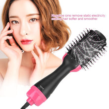 Load image into Gallery viewer, Multifunctional 2 in 1 Hair Dryer Volumizer Rotating Hot Hair Brush