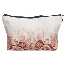 "Load image into Gallery viewer, Fashion Lipstick LOVE Letter This Bag Contains My Face Flower Girl Donut Fruits 3D Printed Cosmetic Bags Multifuncition for Travel(8.6''*5.3""*0.78"")"