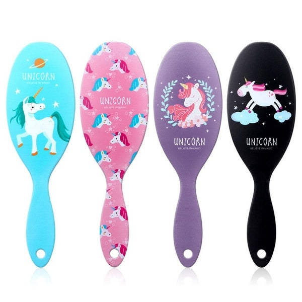 Cute Unicorn Flamingos Anti-static Hair Brushs Massage Comb Shower Wet Detangle Hair Brushs Salon Hair Styling Tools