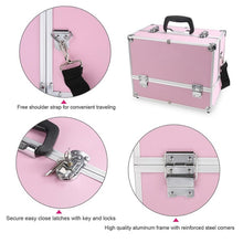 Load image into Gallery viewer, Pro Aluminum Hand Case Jewelry Box Lockable Cosmetic Organizer Makeup storage Box