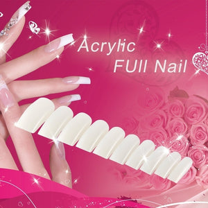 100/500pcs False Nails Tips Practice Polish Gel Artificial Fake Nail Art NE