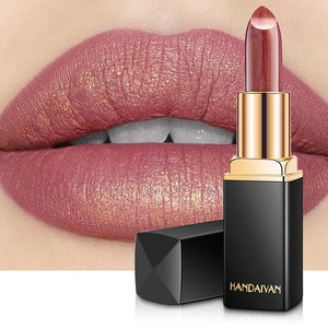 Professional Lips Makeup Waterproof Long Lasting Pigment Nude Pink Mermaid Shimmer Lipstick Luxury Makeup