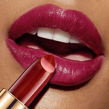 Load image into Gallery viewer, Professional Lips Makeup Waterproof Long Lasting Pigment Nude Pink Mermaid Shimmer Lipstick Luxury Makeup