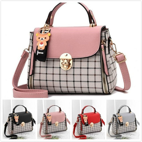 2019 Korean New Fashion Trend Women's makeup Bags Simple Paild Handbag Shoulder Bag Diagonal Crossbody Bags