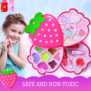 Children's Make-up Toys Safety Non-toxic Princess Cosmetics Eyeshadow Palette Lipstick Birthday Gift Box For Girls
