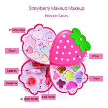Load image into Gallery viewer, Children's Make-up Toys Safety Non-toxic Princess Cosmetics Eyeshadow Palette Lipstick Birthday Gift Box For Girls
