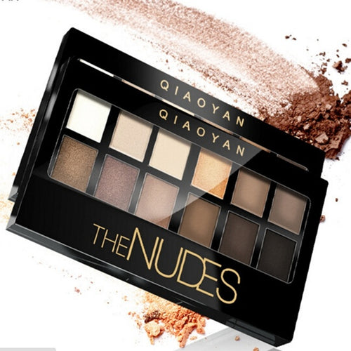 Makeup Eyeshadow Palette 12 Colors Brighten Smoky Eye Shadow Shimmer Matte JYQfashion makeup palette