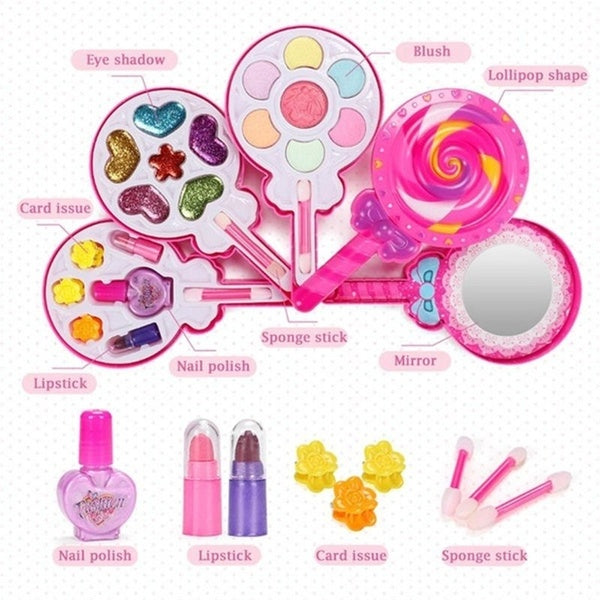 children's  Make Up Toy Pretend Play Toys Set Deluxe Princess Girl's Makeup Cosmetic Kits