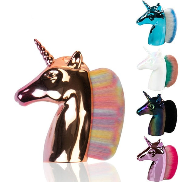 Unicorn Makeup Brushes Unicorn Rainbow Holder for Powder Foundation Blush Contour Big Make Up Unicornio Pincel Beauty Tool