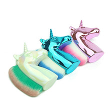 Load image into Gallery viewer, Unicorn Makeup Brushes Unicorn Rainbow Holder for Powder Foundation Blush Contour Big Make Up Unicornio Pincel Beauty Tool