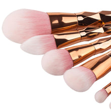 Load image into Gallery viewer, 7pcs Diamond Shape Rainbow Handle Makeup Brushes Set Foundation Powder Blush EyeShadow Lip Brush kwasten Beauty Makeup Tools Kit