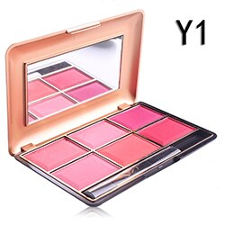 MISS ROSE six-color blush sizzling make-up makeup palette rouge women's blush Europe and America