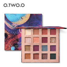 Load image into Gallery viewer, O.TWO.O Stellar Romance Eyeshadow Palette 16 Colors Charming Pigment Eye Shadow Matte Shimmer Glitter Powder Lasting Makeup