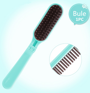 3 Colors Portable Folding Hair Comb Brush Compact Pocket Size Anti-static massage Comb