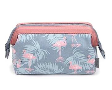 Arrive Flamingo Cosmetic Bag Women Necessaire Make Up Bag Travel Waterproof Portable Makeup Bag Toiletry Kits