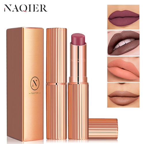 NAQIER 8 Colors Matte Lipstick Makeup maquiagem Waterproof Long-lasting utritious Liquid Velvet Nude lip stick Cosmetic