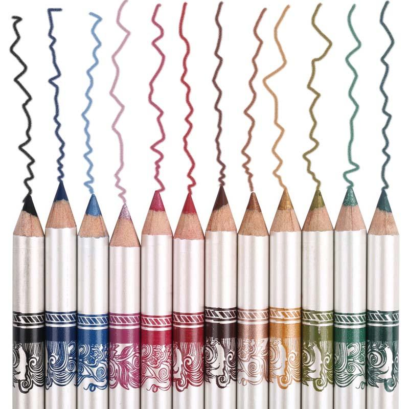 MENOW Brand 12PCS of 2 in 1 Hot Sale Eye Liner Lip Pencil Long-lasting Waterproof 12 Color Set Makeup P12005