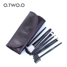 Load image into Gallery viewer, O.TWO.O 7pcs/lot Cosmetics Brush Set Beauty Eye Primer Powder Blush Brush PU Leather Case Send Random