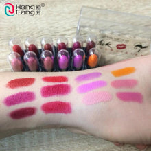 Load image into Gallery viewer, 12Colors/Set Mini Cute 12 Colors Lipstick Travel Set Waterproof Lip Color 1.2gx12 High Quality Lips Makeup Brand HengFang #9022