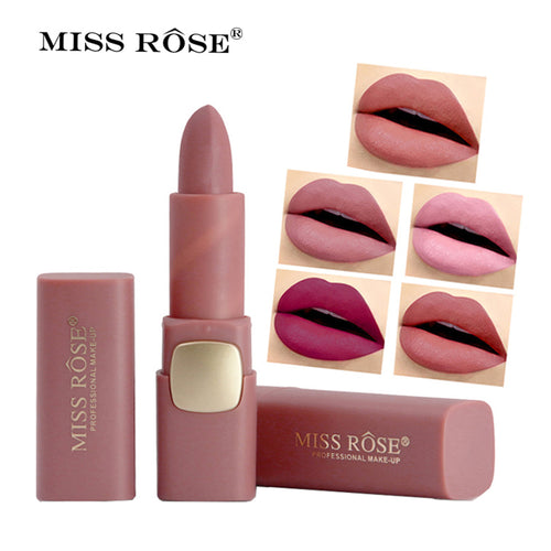 Miss Rose Brand Matte Lipstick Waterproof Lips Moisturizing Easy To Wear Makeup Lip Sticks Gloss Lipsticks Cosmetic