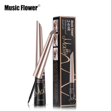 Load image into Gallery viewer, Music Flower Brand Waterproof Liqiud Eyeliner Pencil 24H Long-lasting Matte Eye Liner Delineador Black Eyelid Quick-Dry Makeup