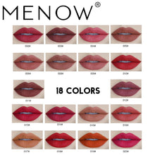 Load image into Gallery viewer, Menow New Arrival 18Color Matte Lipstick Cosmetics Lasting Waterproof Kiss proof Lip gloss Lip Makeup Cosmetic drop ship LS03