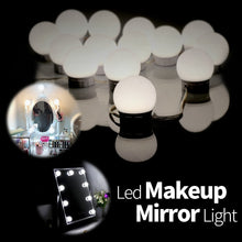 Load image into Gallery viewer, CanLing USB LED 12V Vanity Mirror Makeup Lamp 10  Bulbs Kit For Dressing Table Stepless Light 8W