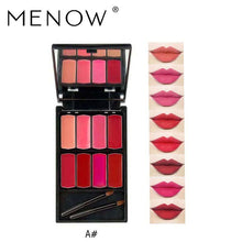 Load image into Gallery viewer, Menow Brand 8 colors Lip Gloss Palette Makeup Waterproof Lasting Moisturizer Lipsticks L501