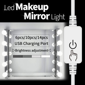 CanLing USB LED 12V Vanity Mirror Makeup Lamp 10  Bulbs Kit For Dressing Table Stepless Light 8W