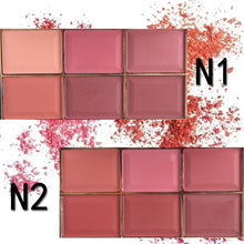 Load image into Gallery viewer, MISS ROSE six-color blush sizzling make-up makeup palette rouge women's blush Europe and America