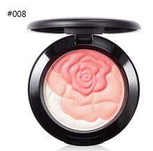 Load image into Gallery viewer, UBUB Rose Flower Baked Blusher makeup Palette Sweet Charming Cheek 3 Colors Mineral Blush Face Foundation Contour Makeup Cream Powder