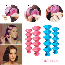 Load image into Gallery viewer, 10/20pcs/set Magic Hair Care Rollers for Curlers Sleeping No Heat Soft Rubber Silicone Hair Curler Twist Hair Styling DIY Tool