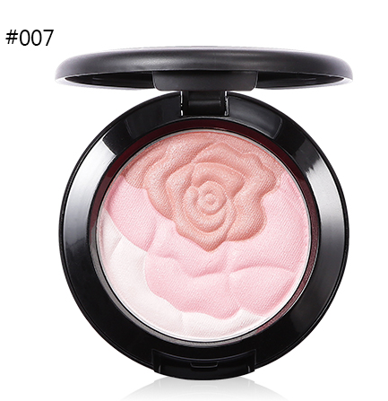 UBUB Rose Flower Baked Blusher makeup Palette Sweet Charming Cheek 3 Colors Mineral Blush Face Foundation Contour Makeup Cream Powder