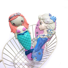 Load image into Gallery viewer, Kids Comb 3D Princess Hair Brushes Hair Care Baby Girl Mermaid Hair Comb