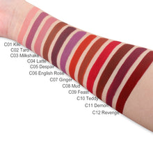 Load image into Gallery viewer, IMAGIC Waterproof Lip Gloss Matte Liquid Lipstick Matte Lipstick Lipkit Cosmetics Makeup Nude 12color