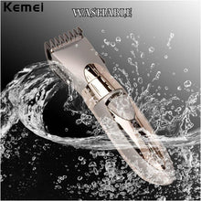 Load image into Gallery viewer, New Rechargeable Waterproof Hair Clipper Beard Electric Hair Trimmer Shaver Body Hair Mustache Shaving Trimmer Haircut 55