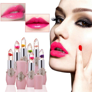 Beauty Bright Flower Crystal Jelly Lipstick Magic Temperature Change Color Lip Balm Makeup
