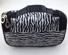 Load image into Gallery viewer, Women Lady Makeup Cosmetic Case Toiletry Bag Zebra Travel Handbag Organizer
