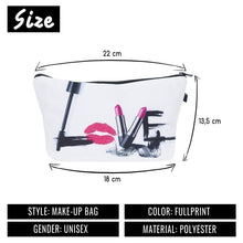 Load image into Gallery viewer, Makeup package Smile Mouse HAKUNAMATATA Camara Love Flawless Emoji Series 3D Printing Cosmetics makeup BagCases Party M