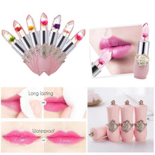 Load image into Gallery viewer, Beauty Bright Flower Crystal Jelly Lipstick Magic Temperature Change Color Lip Balm Makeup