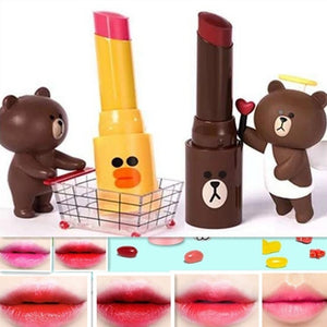 Fashion Lip Makeup 12 Color Mann poem li brown  Korean Cartoon  Velvet Matte Lipstick